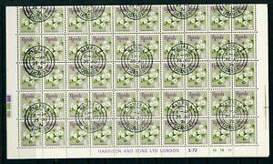 Uganda 1969 Flowers 40c SG 136 complete sheet of 100 CTO
