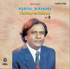 KALAM - E - BAHOO BY IQBAL BAHOO - VOL 2 CD - NEW SOUND TRACK CD