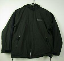 Mens Abercrombie & Fitch M Green Fleece Lined Full Zip Hooded Rain Jacket