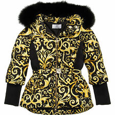 YOUNG VERSACE Girls Baroque Down Padded Jacket Age 8