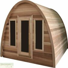 4 Person Steam Wet Dry Sauna Outdoor Dome Top Pine 200 Degrees 9.2Kw 220V Heater