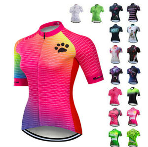 Women's Cycling Jersey Bike Shirt Short Sleeve Bicycle Clothing MTB Cycle Jacket