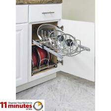 "Pots and Pan Lid Organizer Pull Out for 15"" Base Kitchen Cabinet MPLO15-R"