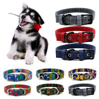 Dog Collar Bohemia Adjustable Canvas Multicolor XS-L Choker Puppy Small Dog NEW