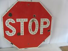 "RARE 1940's 30"" PORCELAIN STOP SIGN CALIFORNIA DIVISIONS OF HIGHWAYS"