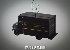 Custom Christmas Ornament 1/64 UPS United Parcel Service Delivery Truck USPS UPS