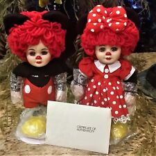 Marie Osmond Rosie & Rags as Mickey & Minnie Porcelain Doll Set Autographed 1998