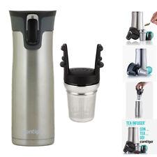 Contigo West Loop Thermos Large Travel Mug SS Autoseal® 591mL & Tea Infuser