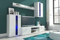 Living room furniture set glass display unit Tv stand shelf different colours