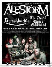 ALESTORM / SWASHBUCKLE 2015 PORTLAND CONCERT TOUR POSTER - Pirate Metal Music