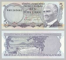 Türkei / Turkey 5 Lira 1976 p185 unz.