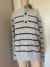 Fat Face Mens Jumper Sweatshirt Grey Stripe Size XL Extra Large BNWT New Tags