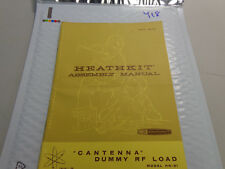 "(418) Heathkit HN-31 ""Cantenna"" Dummy Load Manual...Original no marks"