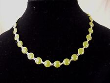 Filled Necklace Classic! Nice! Vintage Ladies' Jade Green 12K Gold