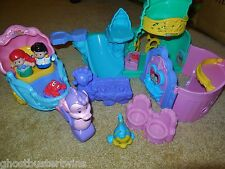 FISHER PRICE LITTLE PEOPLE DISNEY PRINCESS ARIEL MERMAID SEA PLAYSET COACH LOT