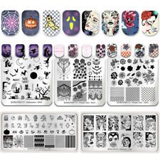 5Pcs BORN PRETTY Nail Stamping Plates Halloween Day Lace Flower Image Templates