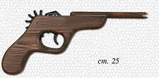 Giocattolo: Pistola spara elastici in legno Lunghezza 25 cm Toy Wood Gun