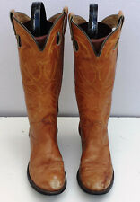 Womens Size 7 N Texas Brown Western Cowboy Boots