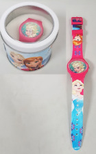 Children's Pink Frozen Disney Character Watch Elsa Anna Girls Wristwatch Gift