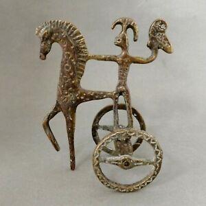 Mid-Century Modernist Bronze Horse & Charioteer MCM (Frederick Weinberg style)