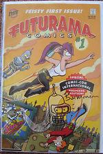 Futurama #1 SDCC Variant COMIC SIGNED W/ SKETCH Bill Morrison Bongo 2000 BENDER