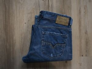 DIESEL LARKEE (0073Q) Regular Straight Jeans W34 L34 DISTRESSED- WASCHUNG
