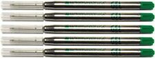5 Monteverde Ballpoint Pen Refills, Parker Style, GEL Ink, Fine Point, GREEN INK