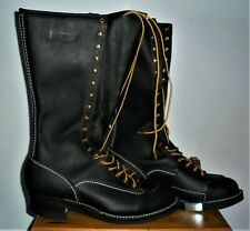 """BNWOB Men's Wesco 16"""" Highliner Black Leather Boots by Wesco Boots - Size 13E"""