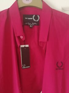 Fred Perry Raf Simons Shirt Dark Pink XL