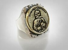 Order of Demolay Brass & Solid Sterling Silver 925 Ring by Ezi Zino