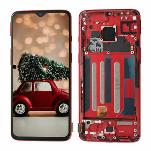 OEM For Oneplus 7 LCD Display Touch Screen Digitizer Replacement with Red Frame