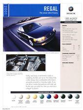 2001 Buick Regal GS Original 1-page Car Brochure Spec Card