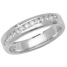 Unbranded Diamond Band White Gold Fine Rings