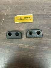 New Listing1954 Chevy 2 Door Front Seat Back Bumpers Pair Nos Gm 121