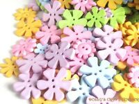 Pastel Flower Buttons 50 grams Assorted Colours and Sizes