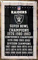 Oakland Raiders NFL 3x Super Bowl Championship Flag 3x5 ft Sports Banner Garage