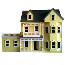 Large Wooden Victorian Dolls House with Conservatory