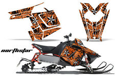 Sled Graphics Kit Decal Sticker Wrap For Polaris Pro RMK Rush 11-16 NSTAR ORANGE