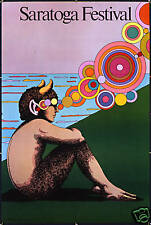 Original Vintage Poster Saratoga Festival Pan Milton Glaser Music Mythology 1980