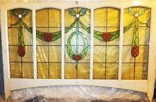 FENSTER BLEIVERGLAST BLEIVERGLASUNG GLAS BILD ANTIK JUGENDSTIL ART DECO NOUVEAU