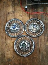 1965 66 67 Ford Mustang Fairlane Galaxie Spinner Wire Hubcaps. 14""