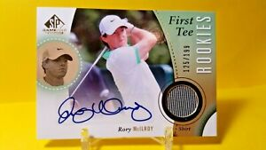 RORY MCILROY #125/199 RC AUTO/ RELIC 2013 SP GAME USED GOLF / FIRST TEE ROOKIES