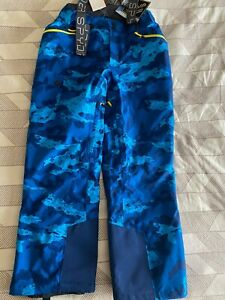 Spyder US FREESKI TEAM Bib Ski Pants Men's L Blue Camo The Seventy GTX Pant NEW