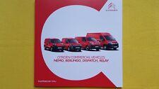 Citroen Dispatch Nemo Berlingo Relay cab brochure catalogue September 2017 NEW