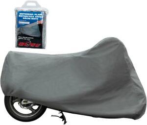 Büse Bâche Taille XXL Gris Indoor Moto Scooter Couverture de Moto pour Intérieur