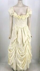 VINTAGE GUNNE SAX - WOMEN'S 7 - CREAM ROMANTIC RENAISSANCE BRIDAL DRESS GOWN