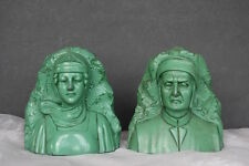 Dante & Beatrice Bookends Vintage Jennings Brothers Bookends
