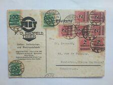 ALLEMAGNE Stamp carte postale affranchie 1923 - 15 millions de Marks ! Weimar