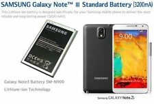 100% ORIGINALE SAMSUNG GALAXY NOTE III NOTE 3 N9000 N9005 BATTERIA 3200 mAh B800BE