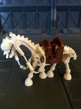 Lego custom Skeleton Horse white The Hobbit Lord of The rings Señor los Anillos
